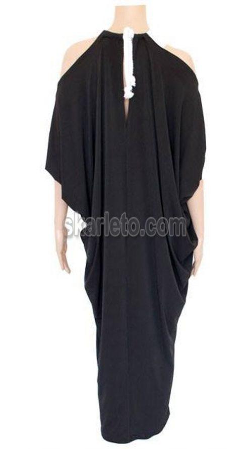 Дълга, лятна рокля в черно