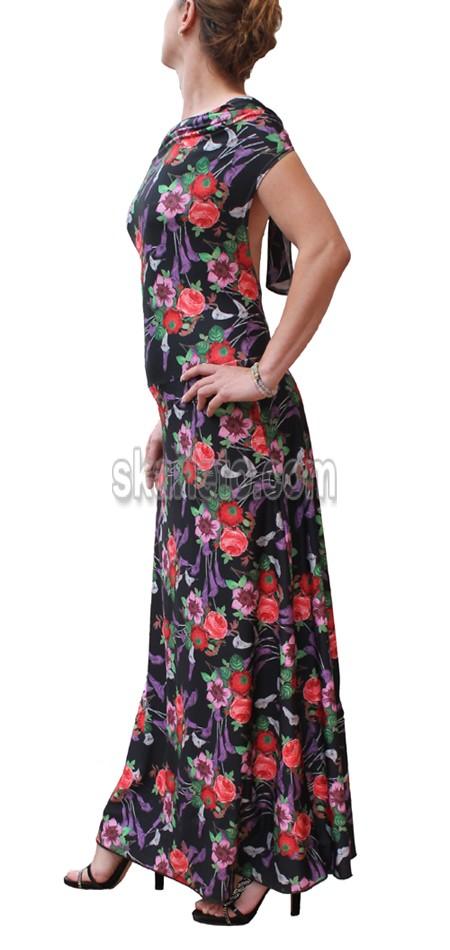 Дълга лятна рокля с гол гръб Аварани