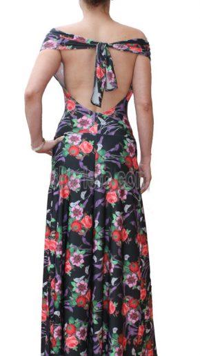Дълга лятна рокля с гол гръб