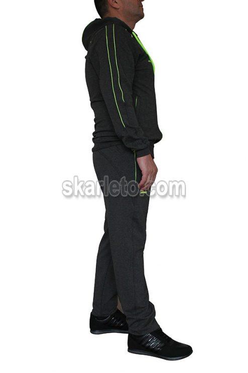 Мъжки спортен екип с качулка Грийнмен